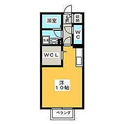 三重県伊賀市ゆめが丘2の賃貸アパートの間取り