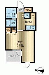 エスティメゾン武蔵小山[0202号室]の間取り
