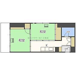 チサンマンション札幌第三[7階]の間取り