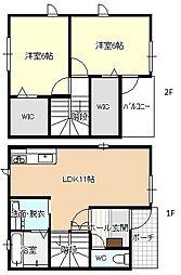 [テラスハウス] 愛知県名古屋市中川区東起町1丁目 の賃貸【/】の間取り