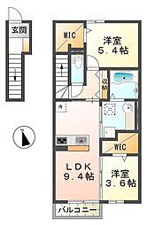(仮称)太寺大野町D-room[2階]の間取り