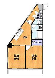 ロイヤルシオン刈部[6階]の間取り