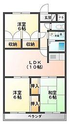 静岡県伊豆の国市原木の賃貸マンションの間取り