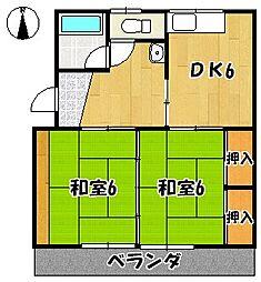 草木コーポ[5号室]の間取り