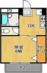 パステル124[3階]の間取り