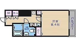 メゾン・ド・ヴィレ大阪城公園前 16階1Kの間取り