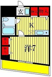 葛飾第一ビル[6階]の間取り