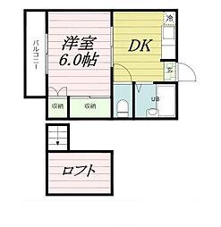 フリージア新松戸[1階]の間取り