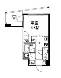 都営新宿線 曙橋駅 徒歩4分の賃貸マンション 5階1Kの間取り