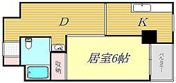 東京都文京区本駒込3丁目の賃貸マンションの間取り