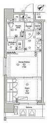 ラグジュアリーアパートメント横浜黄金町[8階]の間取り