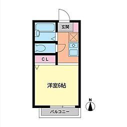 バケーロA[2階]の間取り
