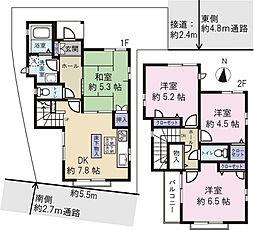 西新井栄町2丁目 中古戸建 4DKの間取り