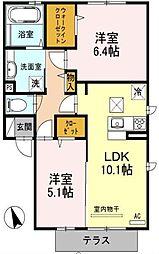 埼玉県川口市大字石神の賃貸アパートの間取り