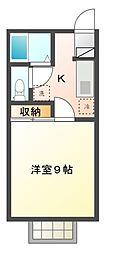 JR八高線 丹荘駅 徒歩37分の賃貸アパート 2階1Kの間取り