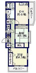 フラットエイト[3階]の間取り