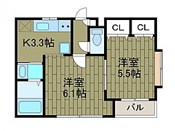 Premium Hills Machida[1階]の間取り