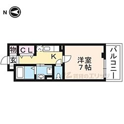 京阪本線 龍谷大前深草駅 徒歩11分の賃貸アパート 2階1Kの間取り