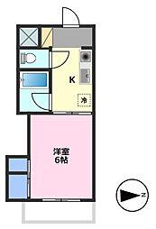 埼玉県東松山市大字西本宿の賃貸マンションの間取り