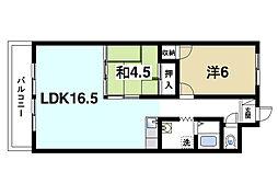 中大路ビル(北)[3階]の間取り