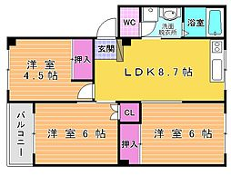 第2三共ビル[1階]の間取り