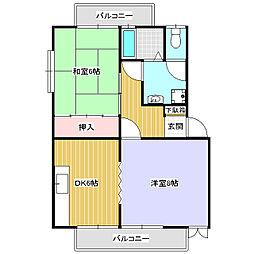 ハイツ神戸E[1階]の間取り