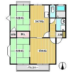 吉向荘 B棟[1階]の間取り