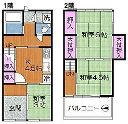 東尾久六丁目貸家 1階3Kの間取り