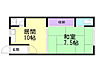 間取り,1LDK,面積36.8m2,賃料2.0万円,バス 函館バス試験場入口下車 徒歩3分,JR函館本線 五稜郭駅 3.2km,北海道函館市美原2丁目19番2号