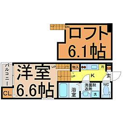 N′sタウン本陣[2階]の間取り