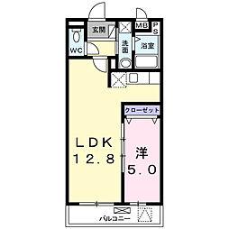 神奈川県横浜市鶴見区上末吉3丁目の賃貸マンションの間取り