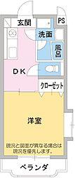 メゾンタケミネ[1階]の間取り