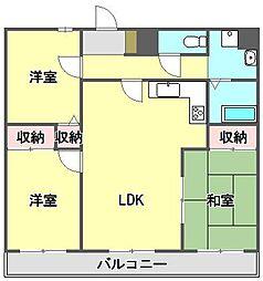 ティエラ武庫之荘[1階]の間取り