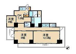 千葉県松戸市新作の賃貸マンションの間取り