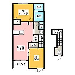 ゴールデンステージ三郷IA[2階]の間取り