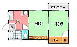 ハイツ山本[2階]の間取り