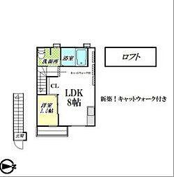 CaT WALK (キャット ウォーク )[2階]の間取り