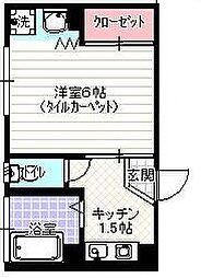 東京都北区神谷1丁目の賃貸マンションの間取り