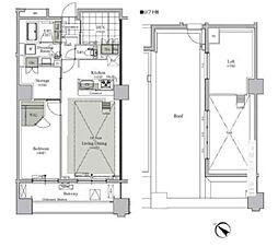 都営三田線 西巣鴨駅 徒歩9分の賃貸マンション 15階1LDKの間取り