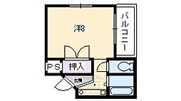 カーサYASUI[2階]の間取り