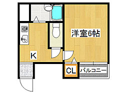 清光マンション[2階]の間取り