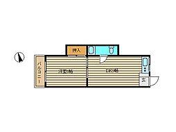 東京都大田区久が原2丁目の賃貸マンションの間取り