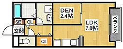 グリーンメゾン山本 A棟[1階]の間取り