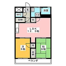 えだのマンション[2階]の間取り