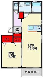 べレオ則松東[1階]の間取り