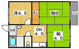 沢村ハイツ[2階]の間取り