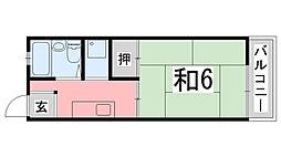 兵庫県姫路市城北新町2丁目の賃貸アパートの間取り