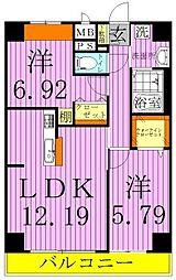 A8[8階]の間取り