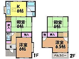 [一戸建] 愛媛県松山市古川北1丁目 の賃貸【/】の間取り