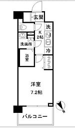 N-Stage Akabane Shimo~エヌステージアカバネシモ~ 2階1Kの間取り